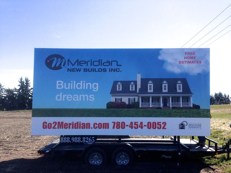 Meridian New Builds's Trailer Billboard reaches a huge audience of commuter traffic, advertising that a dream home is within their reach #alternativeadvertising #outofhomemarketing #outdooradvertising #mobilebillboard