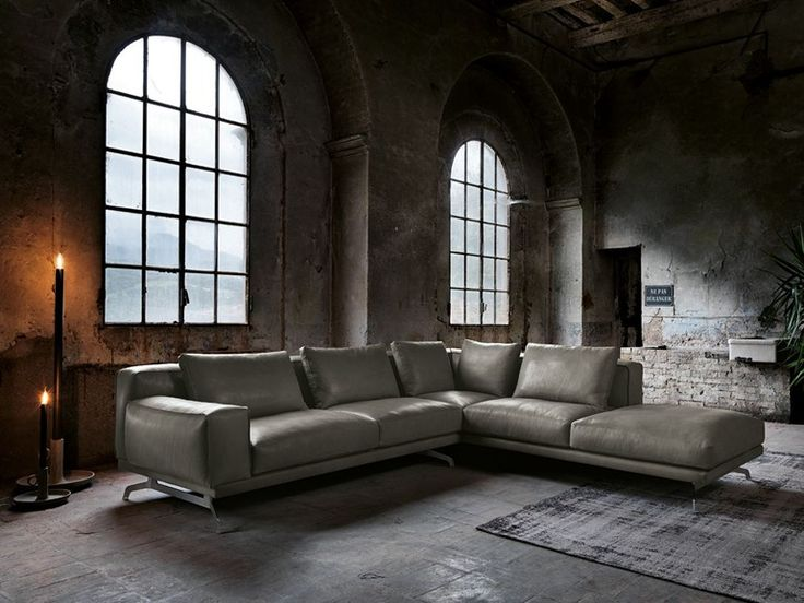 Corner leather sofa NANDO   Leather sofa - Max Divani