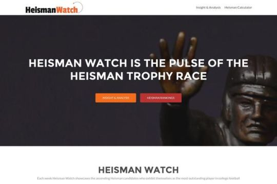 The procedure of analyzing Heisman Trophy Winner starts from Heisman Watch which helps detecting the number of votes for every player. These votes are further calculated over Heisman Calculator to define player's ranking.