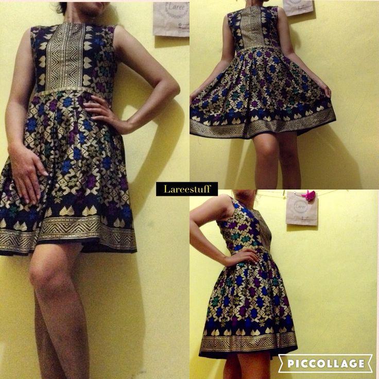 Dress (custom) kain tenun prada bali