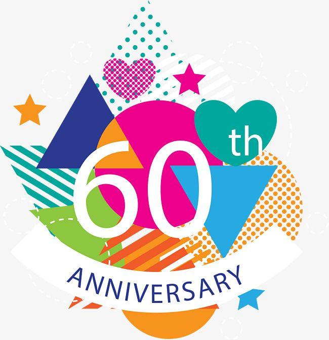 60th Anniversary Birthday Background Year Sixty, 60th
