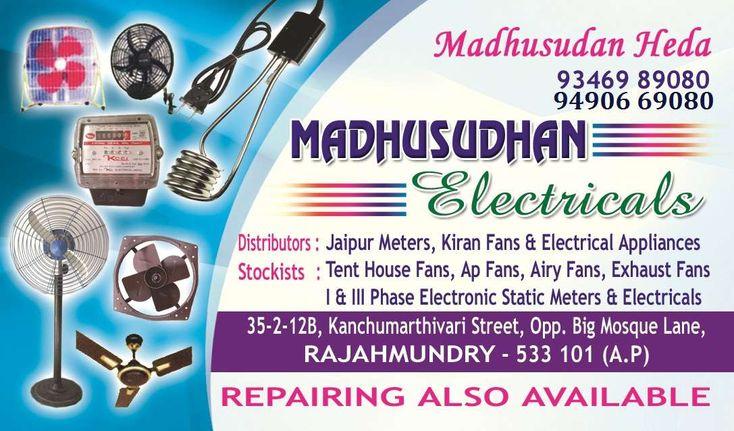 Madhusudhan electricals   Electrical meters   Zonalinfo