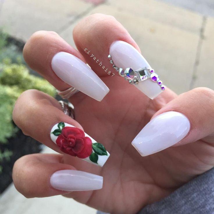 long white nails ideas