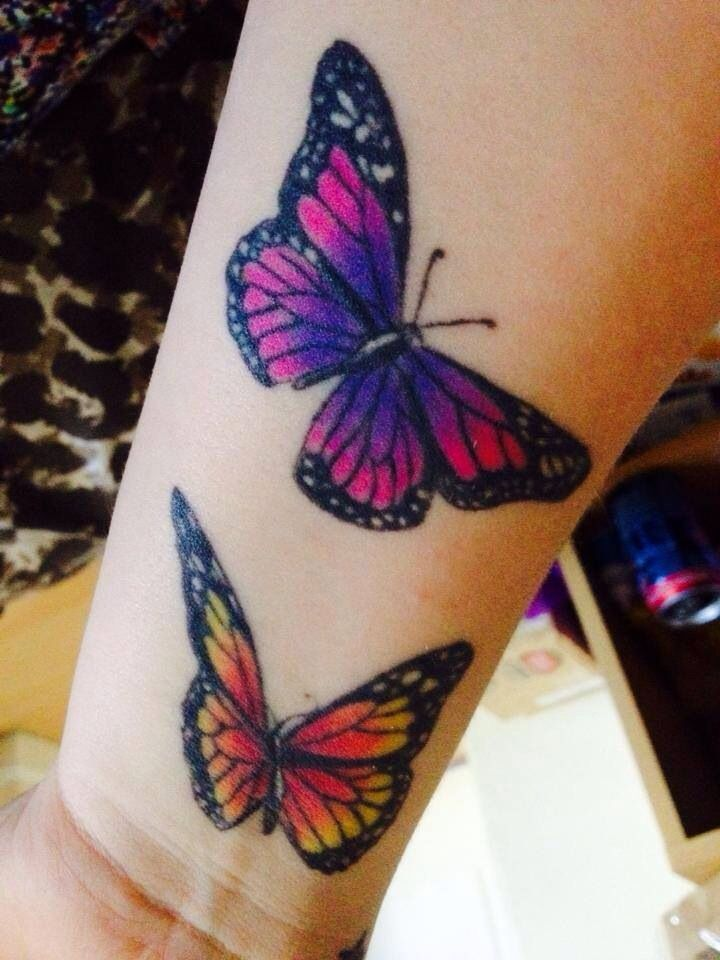 butterflies orange and black purple blue and pink tattoos pinterest butterfly tattoo. Black Bedroom Furniture Sets. Home Design Ideas