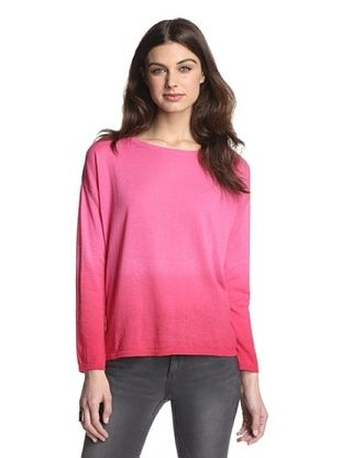 66% OFF 525 America Women's Dip Dye Pullover (Hot Pink Combo)