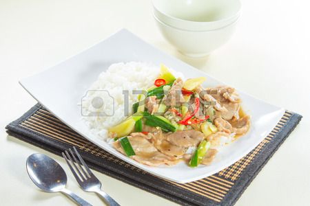 hong kong style rice with meat
