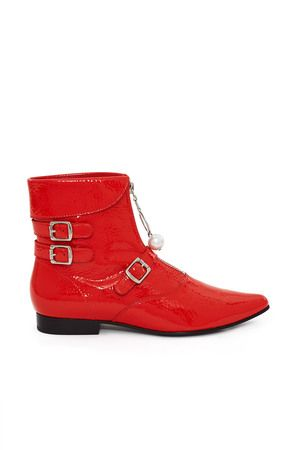 OPENING CEREMONY OPENING CEREMONY SLATER CRACKLE PATENT BOOT. #openingceremony #shoes #