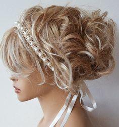 Bridal Pearl Headband, Lace İvory Pearl Wedding Head Piece,  Bridal Hair Accessory, Vintage Style, w - #bridal #Headband #pearl #Piece #wedding -