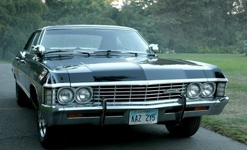 Front end of Chevy Impala.