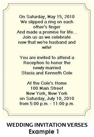 wording for wedding reception invitations - Post Wedding Reception Invitation Wording