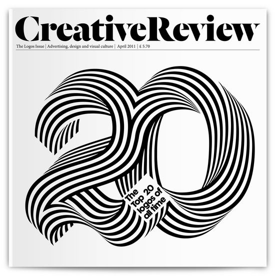 Alex Trochut type for cover of Creative Review