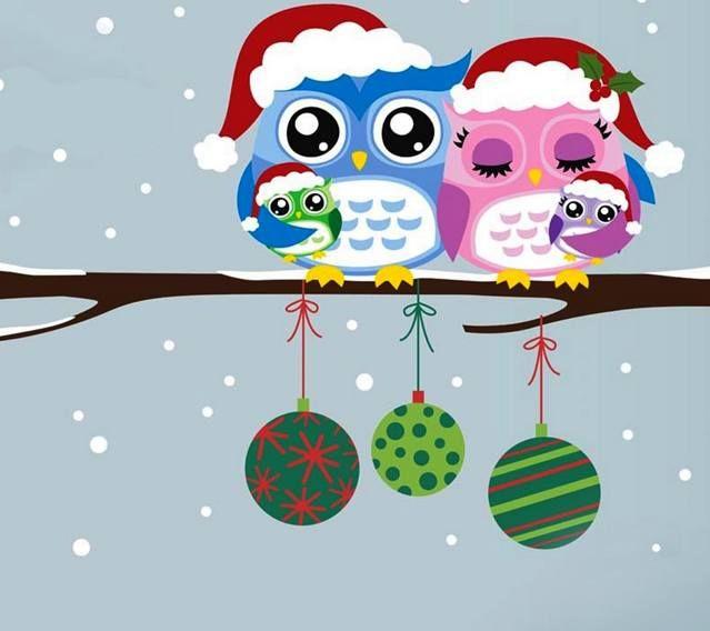 Owls Wallpaper Christmas Adorned For Winter Holidays Flat Winter Time Happy Holidays Wallpapers Pinterest Christmas Owls Christmas And Owl