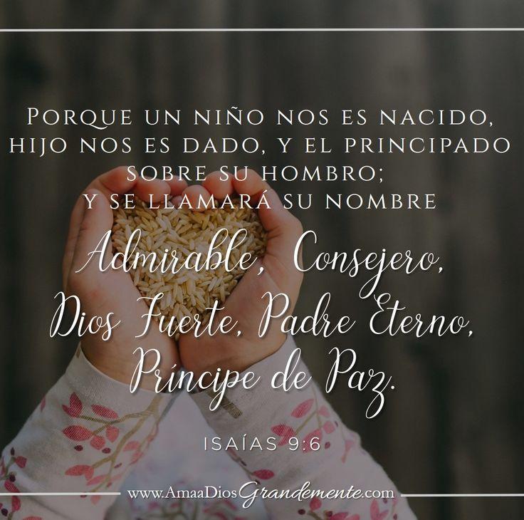 """Este es el versículo que memorizaremos durante la primer semana de este estudio Dios con Nosotros. """"Porque un niño nos es nacido, hijo nos es dado, y el principado sobre su hombro; y se llamará su nombre Admirable, Consejero, Dios Fuerte, Padre Eterno, Príncipe de Paz"""" Isaías 9:6 #AmaaDiosGrandemente #ComunidadADG #Devocionalparamujeres #Biblia #Dios #LGG #LGGenEspañol #DiosconNosotros #Navidad"""