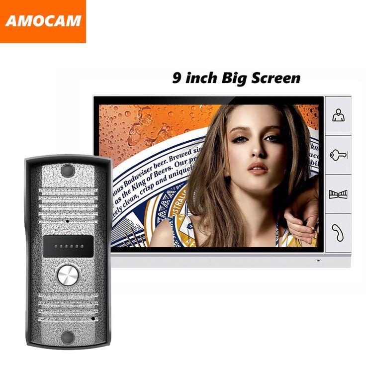 2016 Nieuwe grote scherm 9 inch screen kleur video deur telefoon intercom systeem video deurbel camera intercom monitoren deurbel video