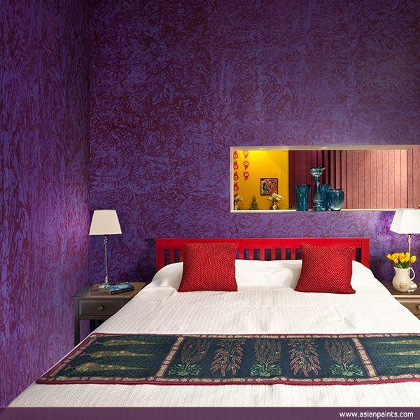 Purple Walls Instantly Make Any Room Look Royal Decorgasm Bedroom Decor Bedroom Wall Colors Wall Texture Design