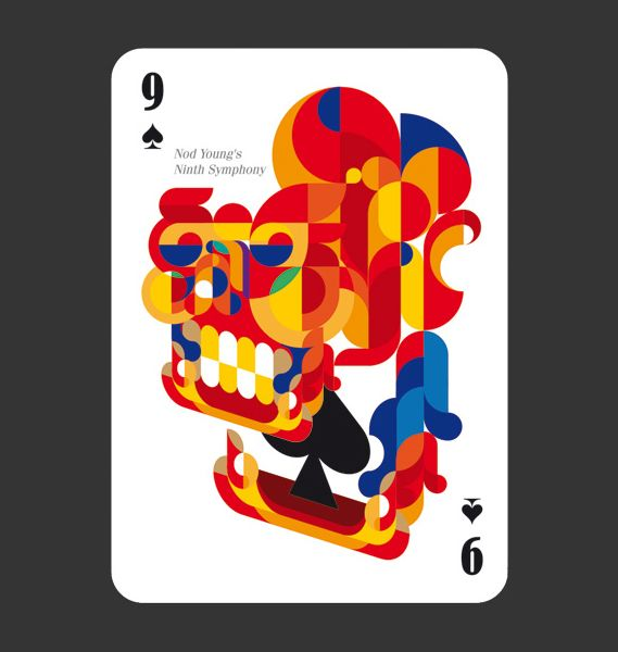 52Aces is a pack of playing cards, each one sporting a design by a different illustrator