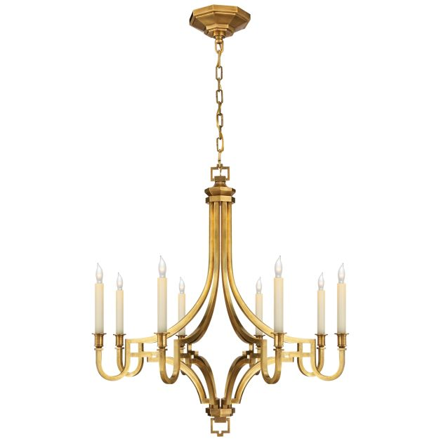 Gold Chandelier With A Sculptural Form