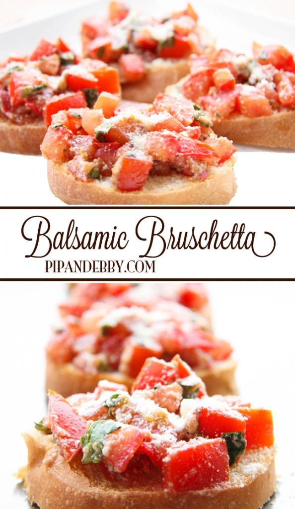 Balsamic Bruschetta   This is the PERFECT appetizer and can be served warm or cold! #appetizers #fingerfoods