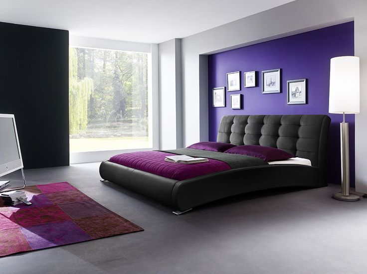 Polsterbett Doppelbett Schwarz Kunstleder Graphit Stoffbezug 180 X 200 Cm Neu