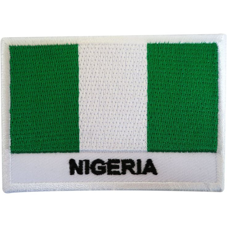 Embroidered Nigeria Flag Patch Badge Iron Sew On T Shirt Bag West Africa Abuja