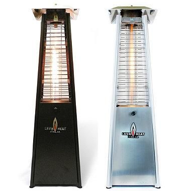 Lava Heat Table Top Propane Patio Heater emits 27,000 BTUs of light-heat output for up to 6 hours on a 1 lb. propane tank (not included).