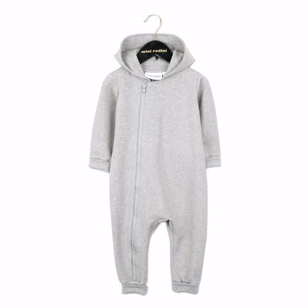 MINI RODINI Basic Onesie Grey Marl