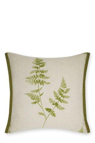 Green Fern Leaf Cushion