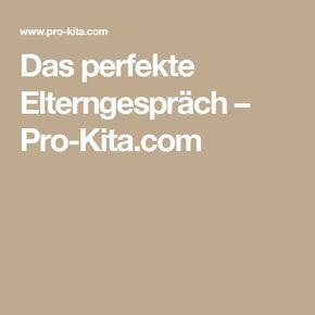 Das perfekte Elterngespräch – Pro-Kita.com