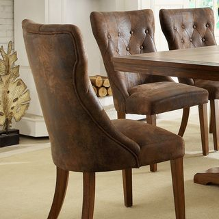 Atelier Traditional French Burnished Brown Oak Dining Chair (Set of 2) | Overstock.com $125