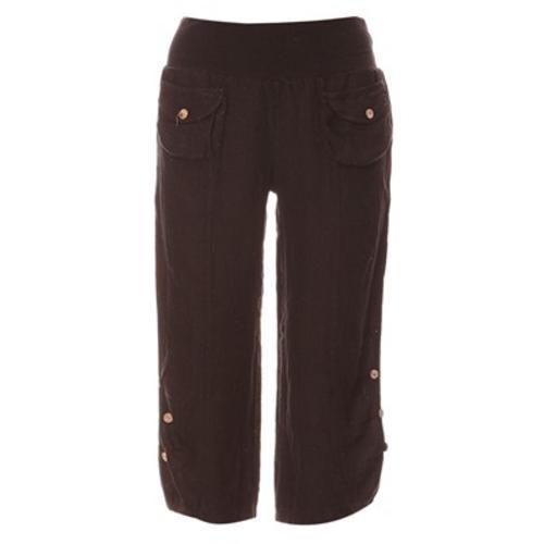 100% lin pantaloni di lino nero donna  ad Euro 85.00 in #Pantaloni casual #Pantaloni