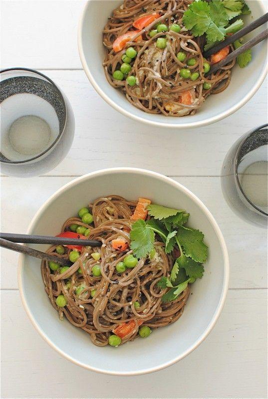 Coconut Soba Noodle Bowls | Bev Cooks (add more garlic and cilantro ...