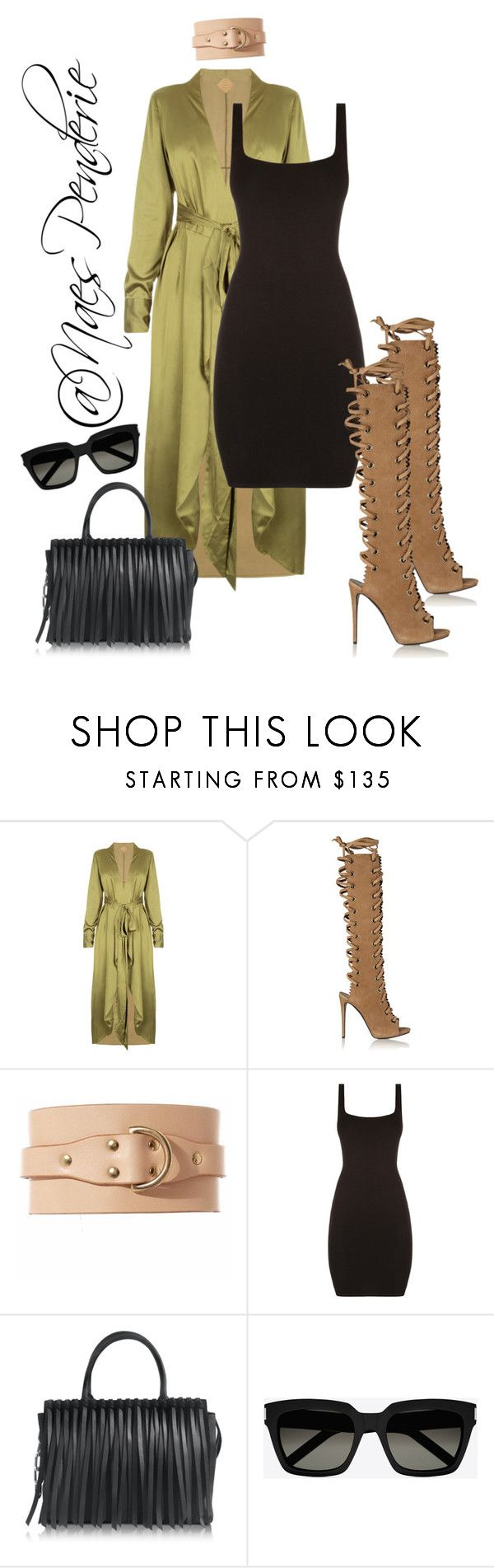 """""""Untitled #108"""" by naes-penderie on Polyvore featuring Giuseppe Zanotti, Fleet Ilya, Alexander Wang and Yves Saint Laurent"""