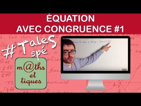 Résoudre une équation avec des congruences (1) - Terminale