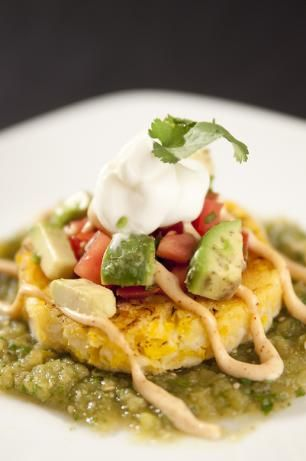 """SWEET CORN TAMALE CAKES! Cheesecake Factory copycat recipe from """"Top Secret Restaurant Recipes"""" by Todd Wilbur"""