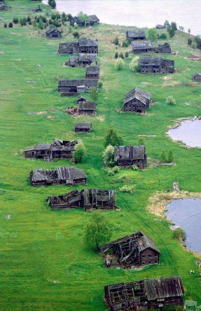 The village of Pegrema, Republic of Karelia, Russia, abandoned after the Russian Revolution