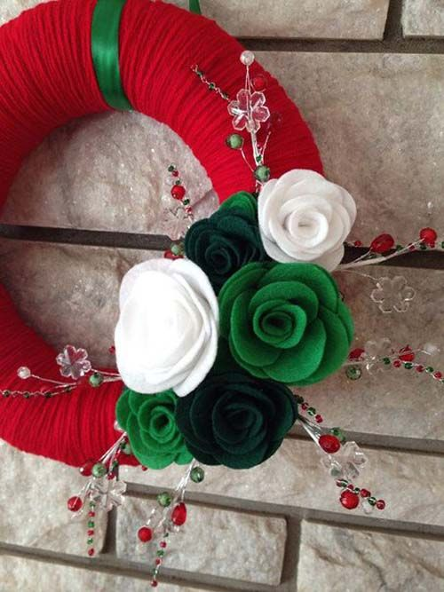 Modelos de coronas navideñas para puertas01
