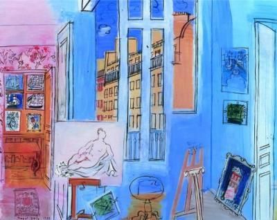 """""""The Artist's Studio,"""" by Raoul Dufy"""