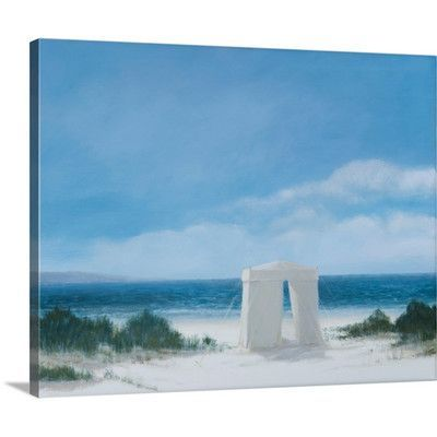 """Canvas On Demand Beach Tent, 2012 by Lincoln Seligman Painting Print on Canvas Size: 24"""" H x 30"""" W x 1.25"""" D"""