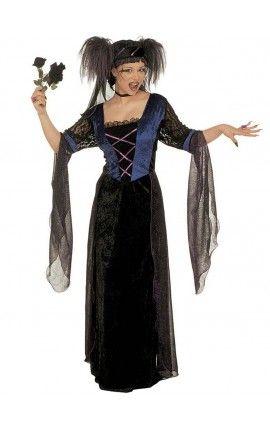 Disfraz de princesa gótica para mujer talla grande