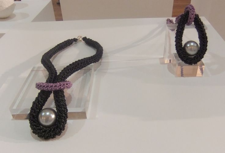 My latest look !  Crochet leather with silver clasps & silver beads.