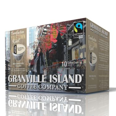 Granville Island Coffee Company Yaletown. Dark Roast. Experience the fruity notes of this Dark roasted Fairtrade South American coffee.