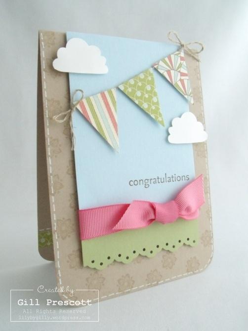 Bunting card ideas