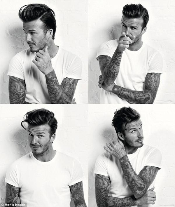 <3 Swoon <3... and not only b/c it's gorgeous David Beckham, but there is something so HOT about tatted arm sleeves.... *sigh*