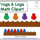 Frogs & logs math clipart to go along with the matching manipulatives! Great for patterns, sorting, and counting!