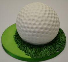 3D Golf Ball Cake
