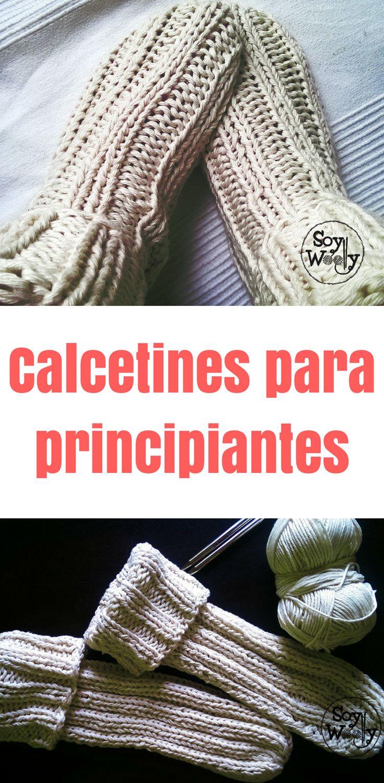 Tricotar as meias mais fáceis com duas agulhas