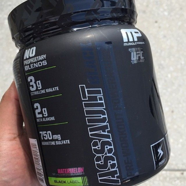 Assault Black Label Series! Such an awesome pre-workout!  #musclepharm #mp #GoSupps