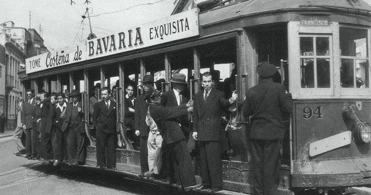 El tranvía de Bogotá, inaugurado en 1884 y desmontado en 1951.