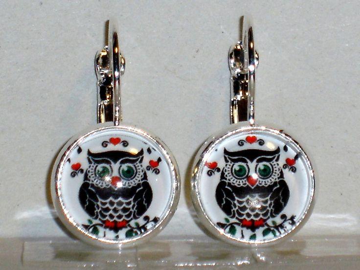 Ohrringe Eule Damen Ohrschmuck Modeschmuck Metalllegierung ohne Stein Cabochon