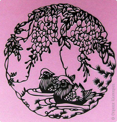 Картина панно рисунок Вырезание Мандаринки Бумага фото 1